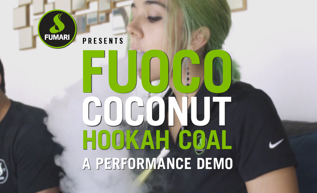 Fuoco Coconut Hookah Coal Performance Demo